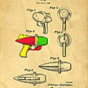 Toy Ray Gun Patent II Print by Edward Fielding