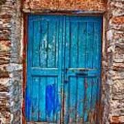 Traditional Door 2 Print by Emmanouil Klimis