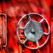 Train - Car - The Wheel Print by Mike Savad