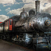 Train - Engine - 6 Nw Class G Steam Locomotive 4-6-0  Print by Mike Savad