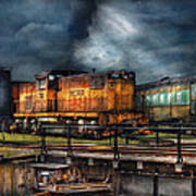 Train - Let's Go For A Spin Print by Mike Savad
