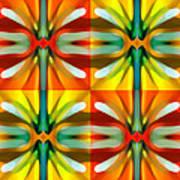 Tree Light Square Pattern Print by Amy Vangsgard