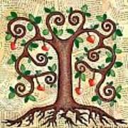 Tree Of Hearts Print by Lisa Frances Judd