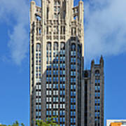 Tribune Tower Chicago - History Is Part Of The Building Print by Christine Till