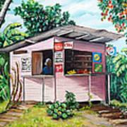 Trini Roti Shop Print by Karin  Dawn Kelshall- Best