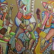 Trio To The Throne Print by Anatoliy Sivkov