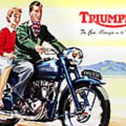 Triumph 1953 Print by Mark Rogan