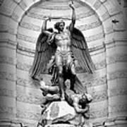 Triumphant Saint Michael Print by Carol Groenen