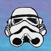 Trooper On Purple Print by Jera Sky