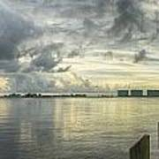 Tropical Winds In Orange Beach Print by Michael Thomas