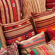 Turkish Cushions 02 Print by Rick Piper Photography