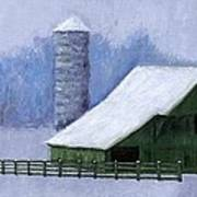 Turner Barn In Brentwood Print by Janet King