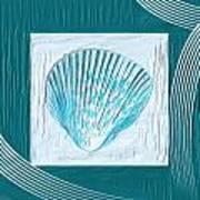 Turquoise Seashells Xxiii Print by Lourry Legarde