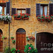 Tuscan Homes Print by Inge Johnsson