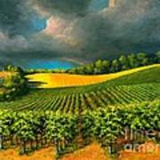 Tuscan Storm Print by Michael Swanson