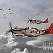 Tuskegee Airmen Print by J Biggadike