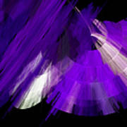 Tutu Stage Left Abstract Purple Print by Andee Design