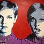 Twiggy Two Face Print by Grant  Swinney