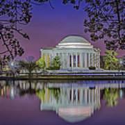 Twilight At The Thomas Jefferson Memorial  Print by Susan Candelario