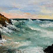 Twilight Surf Print by Larry Martin