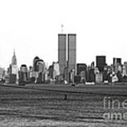 Twin Towers From Staten Island Print by John Rizzuto