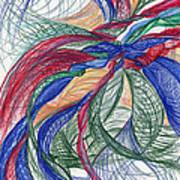 Twirls And Cloth Print by Kelly K H B