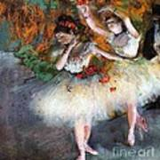 Two Dancers Entering The Scene Print by Pg Reproductions