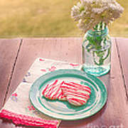 Two Hearts Picnic Print by Kay Pickens