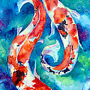 Two Koi Fish Print by Christy  Freeman
