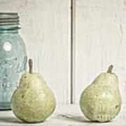 Two Pear Still Life Print by Edward Fielding