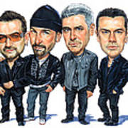 U2 Print by Art