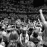 U2-crowd-gp13 Print by Timothy Bischoff