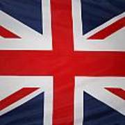 Uk Flag Print by Les Cunliffe