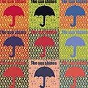 Umbrella In Pop Art Style Print by Toppart Sweden