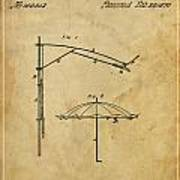 Umbrella Patent - A.b. Caldwell Print by Pablo Franchi