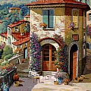 Un Cielo Verdolino Print by Guido Borelli