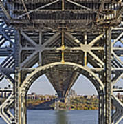 Under The George Washington Bridge I Print by Susan Candelario