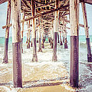 Under The Pier In Southern California Picture Print by Paul Velgos