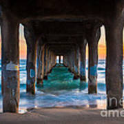 Under The Pier Print by Inge Johnsson