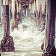 Under The Pier Vintage California Picture Print by Paul Velgos
