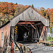 Union Village Covered Bridge Thetford Vermont Print by Edward Fielding