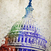 United States Capitol Dome Print by Aged Pixel