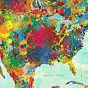 United States Map Print by Gary Grayson