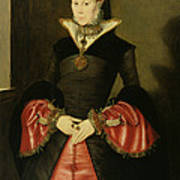 Unknown Lady From The Court Of King Print by Hans Eworth or Ewoutsz