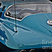 Unmistakeable Tail 65 Corvette Stingray Print by JW Hanley