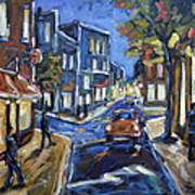Urban Avenue By Prankearts Print by Richard T Pranke