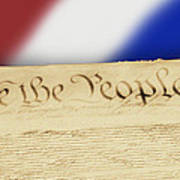 Us Constitution Print by Linda Phelps