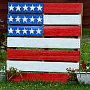Usa Flag Print by Kim Stafford