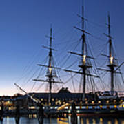 Uss Constitution And Bunker Hill Monument Print by Juergen Roth