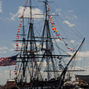 Uss Constitution Print by Mike Ste Marie